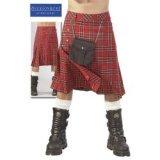 Kilt escocés para hombre con alforja