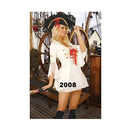 Costume de pirate blanc sexy pour femme