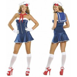 Traje corpiño de marinera, ¡ grumete de la marina mujer !