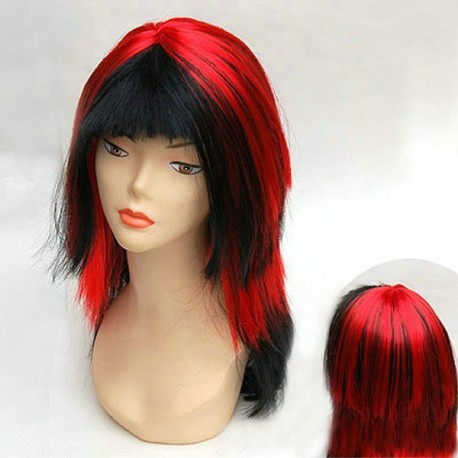 ¡ Peluca : Diablesa sexy ! Rojo y negro