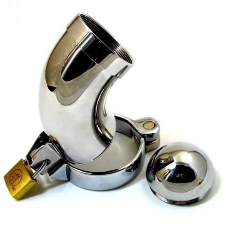 Keuschheitsgürtel Curve + Chrom Sicherungsring für Hoden / Typ: CB3000