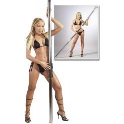 Barra pole dance cromada móvil