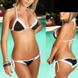 Bañador : Bikini simply sexy Negro & Blanco