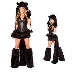 Traje, Completo disfraz de gata, de mujer