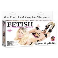 Kit Extremo Hog-Tie : 4 esposas con velcro BDSM