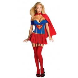 Mujer Sexy de superMan SuperWoman traje