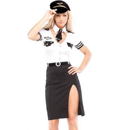 Costume de commandante de bord femme sexy
