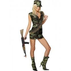 Traje - vestido de mujer Sexy militar del ejército