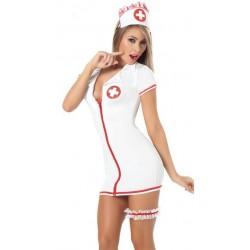 Traje: Vestido de enfermera Ultra apretada & sexy