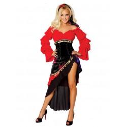 Disfraz de bailarina de flamenco español.