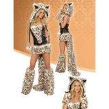 Traje del traje de leopardo - mujer