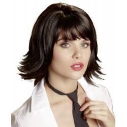 Sexy peluca: pelo corto negro