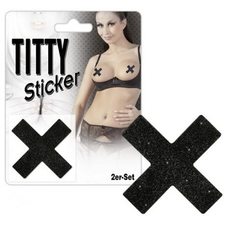 Caché tetas - tetas Sticker - X