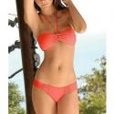 Traje de baño: Bikini naranja sensual