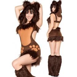 Sexy traje traje pequeño oso de peluche