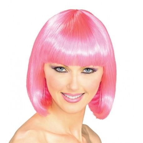Peluca: corte rosa