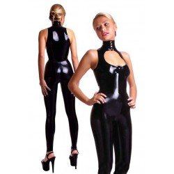 CatSuit de combinaciones - 100% Latex - escote y cuello
