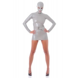 Vestido Zentai látex gris James Bond Girl