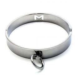 Collar cromado para sumisión o dominación con cierre magnético