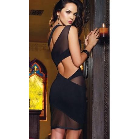 Vestido sexy en vestido transparente