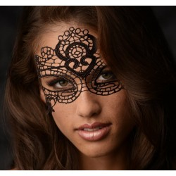 Máscara de encaje negro glamour