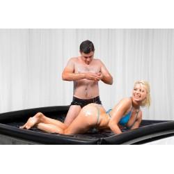 Nuru - Láminas de látex vinilo, con bordes hinchables, ideal para juegos de masaje - wet games