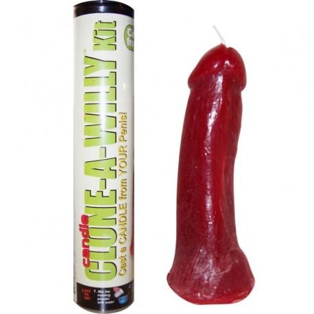 Clone a willy kit - Molde de su pene : Vibrador consolador / Chocolate / Vela / Jabón