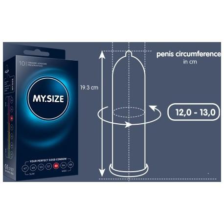 My.Size - Preservativos, se adapta al tamaño del pene - 7 tallas