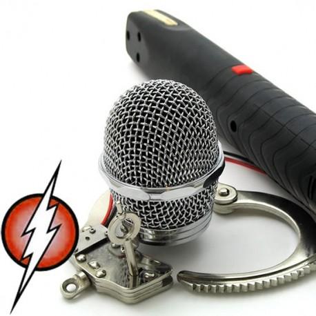 Caja de castidad hombre - Electrosex Malla metálica electrosex