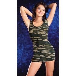 Vestido sexy camuflaje rejilla militar