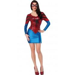 Traje - Vestido adaptable sexy spiderwoman