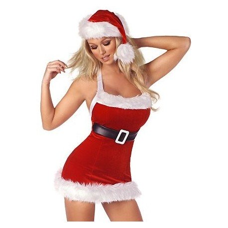 Mutter Weihnachten Kleid Sexy Kostüm - Kleid Little Christmas