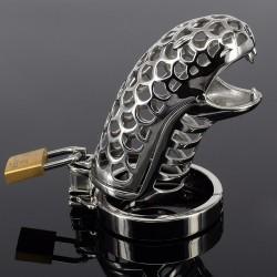 Snake Head - Caja de castidad de metal - cabeza de serpiente