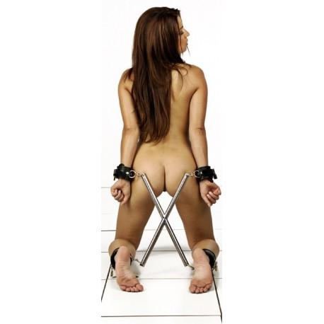 Barra de separación en X : postura hogtie