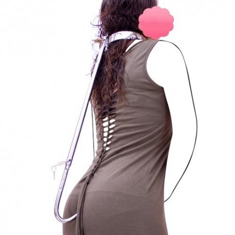 Hold the line - Collar constricción de posición con gancho anal BDSM