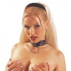 Collar Ajustado al cuello : Cuero BDSM Sumisión