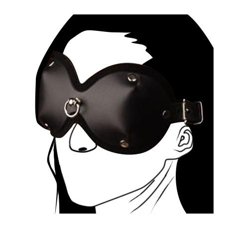 Wolf - Mask BDSM Leder mit Ring auf der Vorderseite