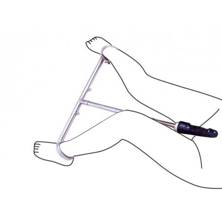 Poste de restricción de pie con consolador y mango telescópica