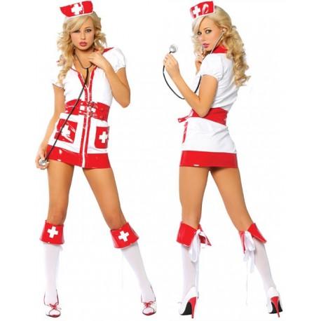 Sexy Krankenschwester Kostüm, das Rote Kreuz