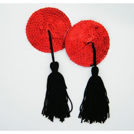 Cache-Téton - Nippies - Coeur et pompon