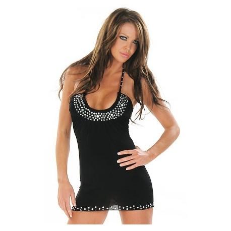 Kurzes Kleid mit Strass! Für Leistungen heiß!