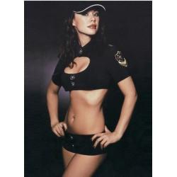 Traje de policía : Top y mini short - ¡ Dos polis en Miami !