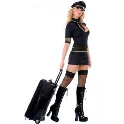 Traje de azafata de vuelos sexy