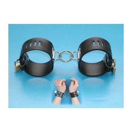 Leder Handschellen einstellbar, abschließbar Vorhängeschloss