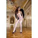 Baci: Bodystocking blanco de rejilla