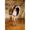 Baci : Camisa de noche de tul rosa y negro
