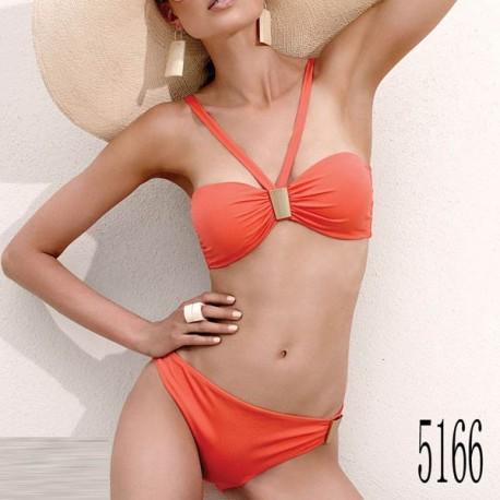 Maillot de bain : Bikini orange avec plaque